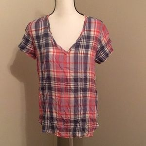 Cloth & Stone | Soft Plaid Top